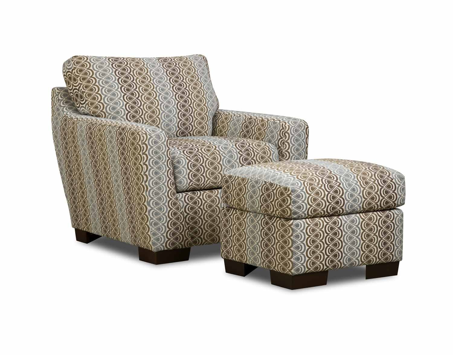 accent chair with ottoman brown and gray patterned accent chair with ottoman