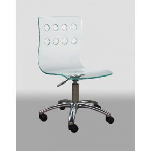 acrylic desk chair creative images international low back acrylic office chair