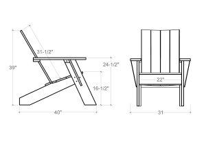 adirondack chair dimensions lh loggerhead modern adirondack chair dimensions