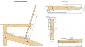 adirondack chair plans pdf folding adirondack chair diagram