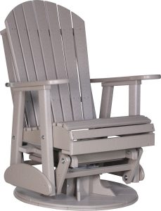 adirondack glider chair luxcraft poly ft swivel adirondack style glider chair