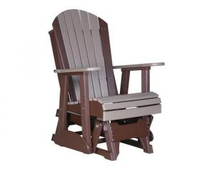 adirondack glider chair adirondack glider chair weatherwood chestnut brown