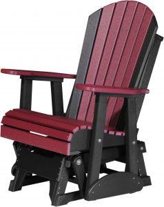 adirondack glider chair adirondack glider cherrywood black