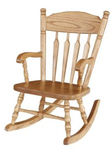 amish rocking chair pid amish hardwood childs plain rocker post type