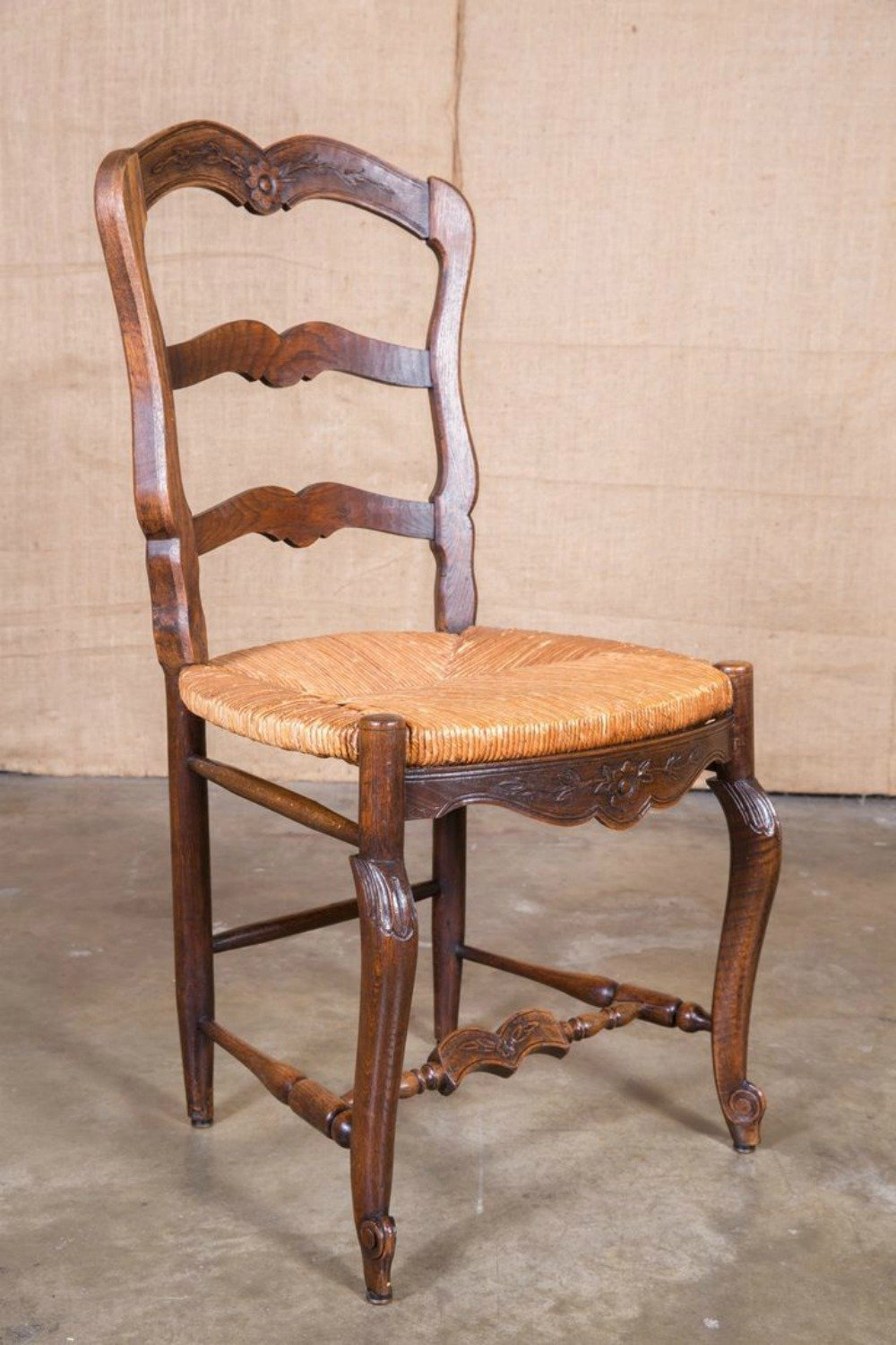 antique ladderback chair lfa