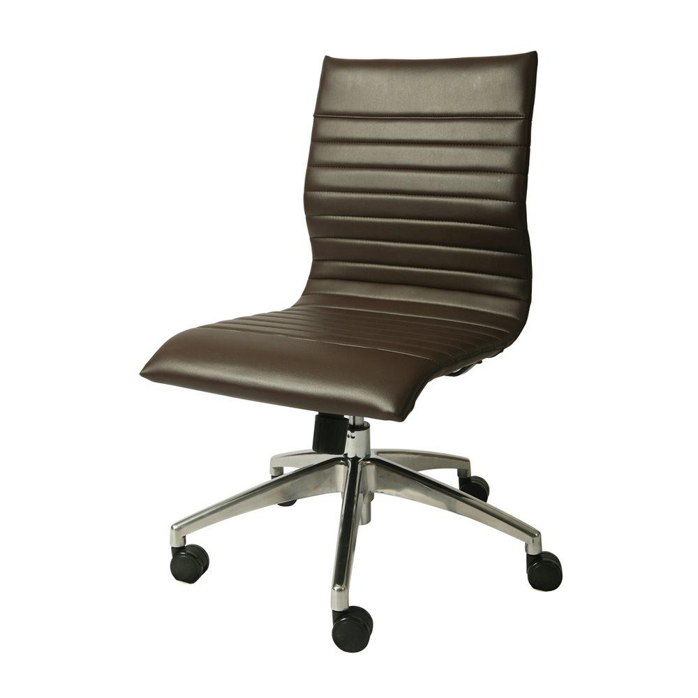 armless desk chair