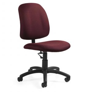 armless desk chair red armless task chair with low back pneumatic