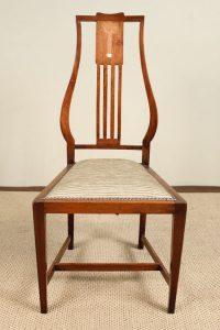 art nouveau chair art nouveau inlaid mahogany ch asab
