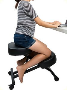 back support office chair kneeling chair