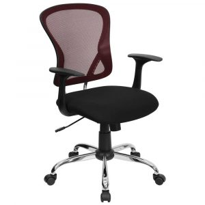 back support office chair red mesh computer chairs for executive office