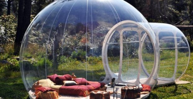 backpacking camp chair bubbletree see through bubble tent x