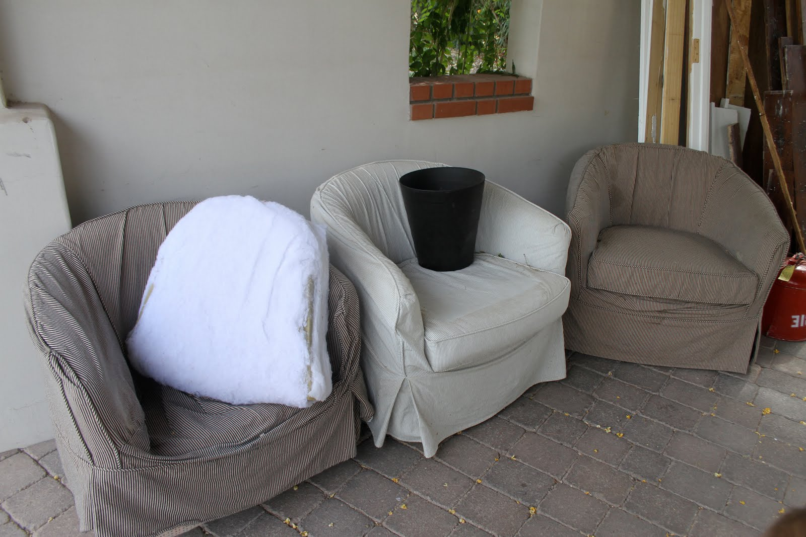 barrel chair slipcover