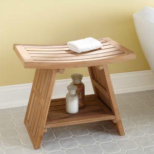 bath shower chair l large teak asian style shower stool