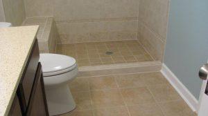 bath shower chair tile floor walk in shower bath lewisville