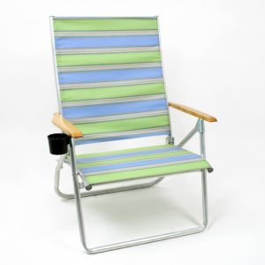 beach chair with cupholder coastal tel