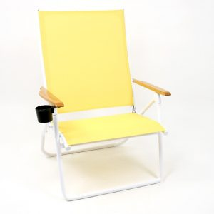 beach chair with cupholder d yellow tel