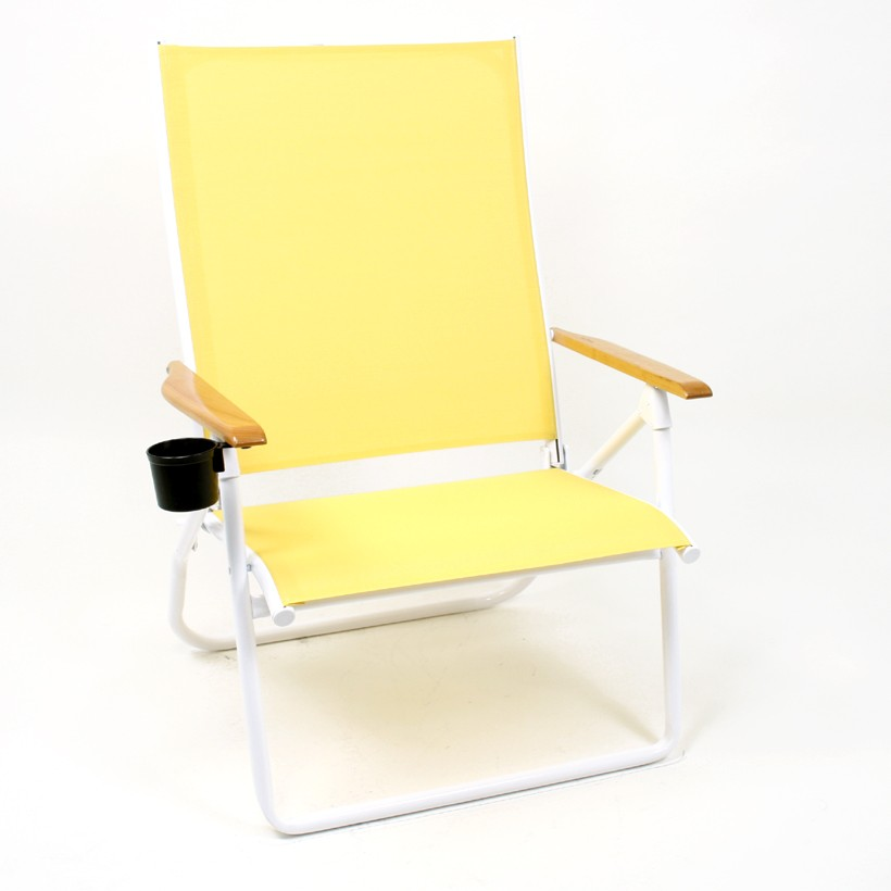 beach chair with cupholder