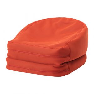bean bag chair ikea bussan beanbag in outdoor orange pe s
