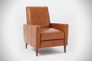 best reading chair rhys mid century leather recliner