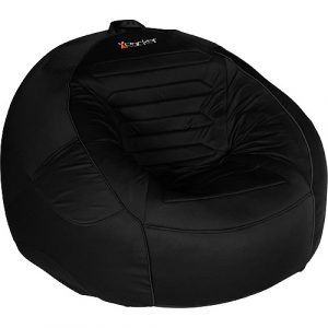 black bean bag chair x