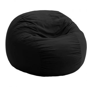 black bean bag chair l