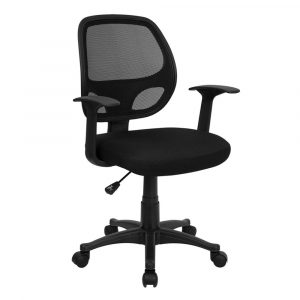black desk chair midback black mesh swivel task chair