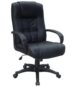 black leather office chair chair black