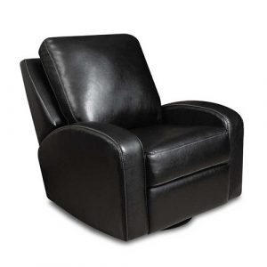 black leather recliner chair black leather swivel glider from thomas black