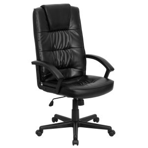 black office chair go gg high back black leather executive