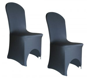 black spandex chair covers black double