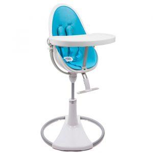 bloom high chair col white bermudablue sqfdab