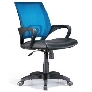 blue desk chair back mesh blue officer office chairs