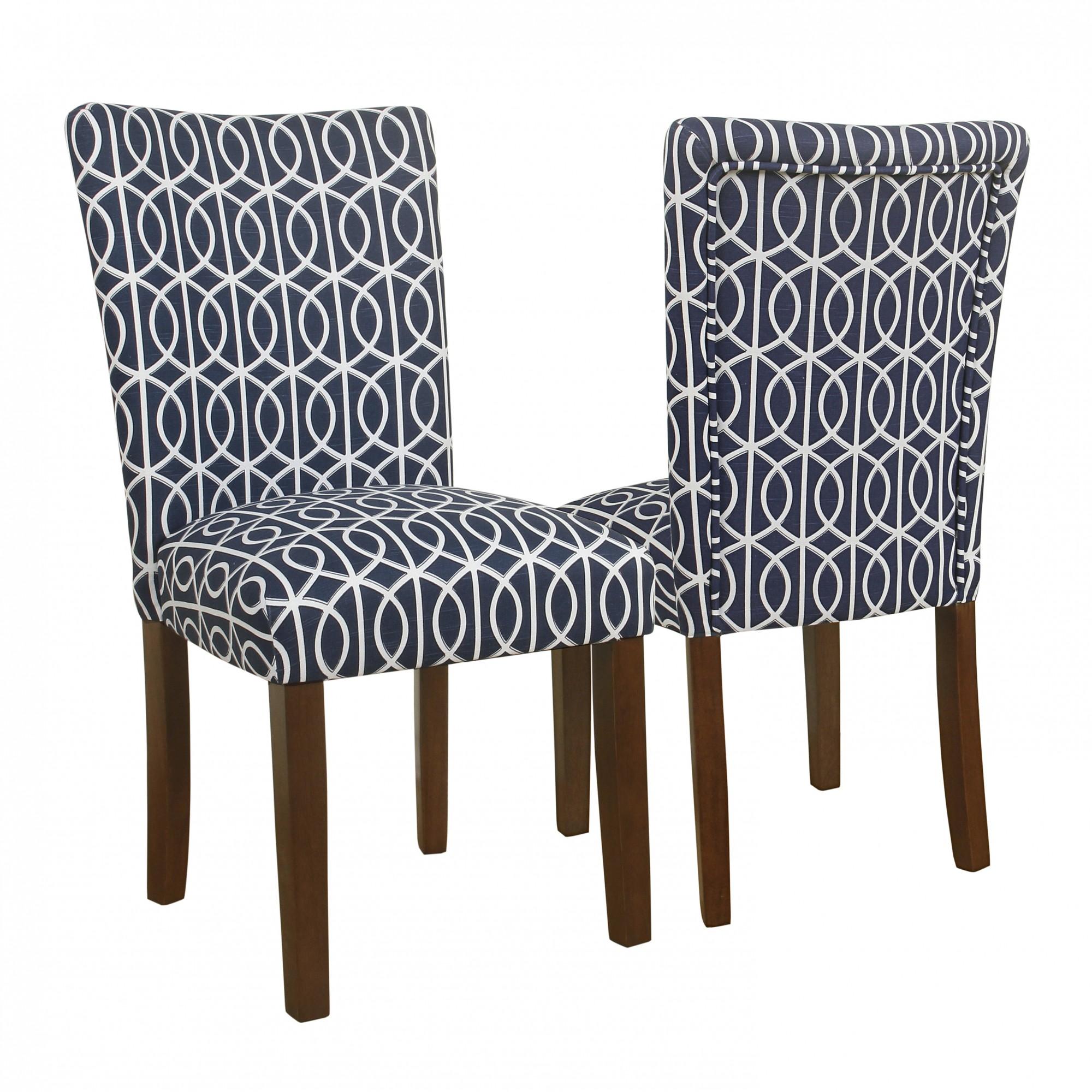 blue parson chair