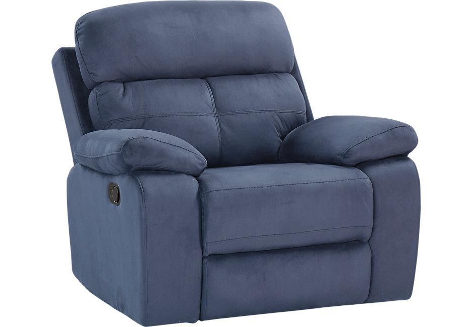 blue reclining chair