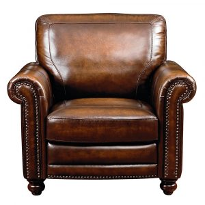 brown leather chair st