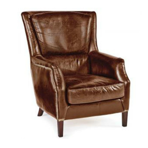 brown leather chair xl