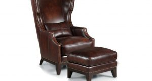 brown leather chair and ottoman interior dark brown leather back wings arm chair plus rectangle ottoman and short dark brown wooden legs accent chair with ottoman