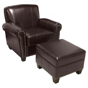 brown leather chair and ottoman master:glm