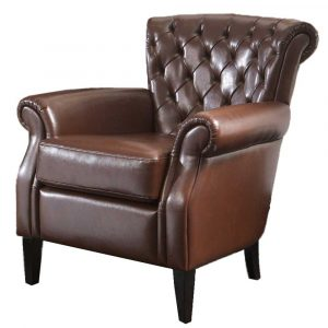 brown leather chair best franklin brown leather club chair
