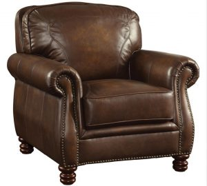 brown leather chair montbrook brown leather chair