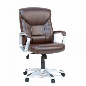 brown office chair gruga brown deluxe leather office chair rcwilley image~
