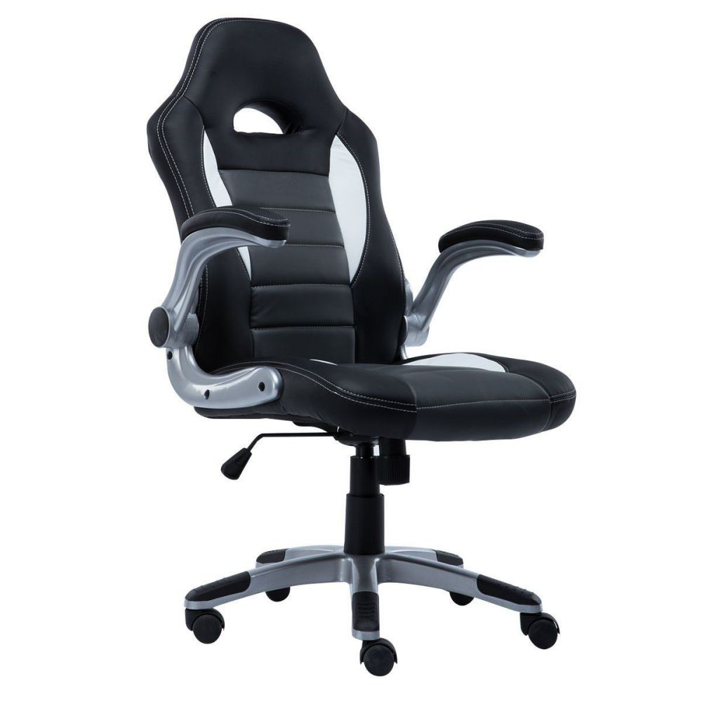 bucket seat office chair giantex pu leather executive racing style bucket seat chair sporty office desk chair gray