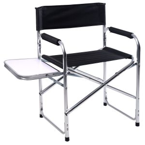 camping chair with side table camping aluminum folding chair with side table