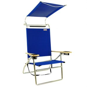 canopied beach chair canopybeachchairblue