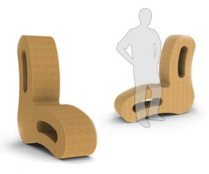 cardboard chair design curvate cardboard chair design