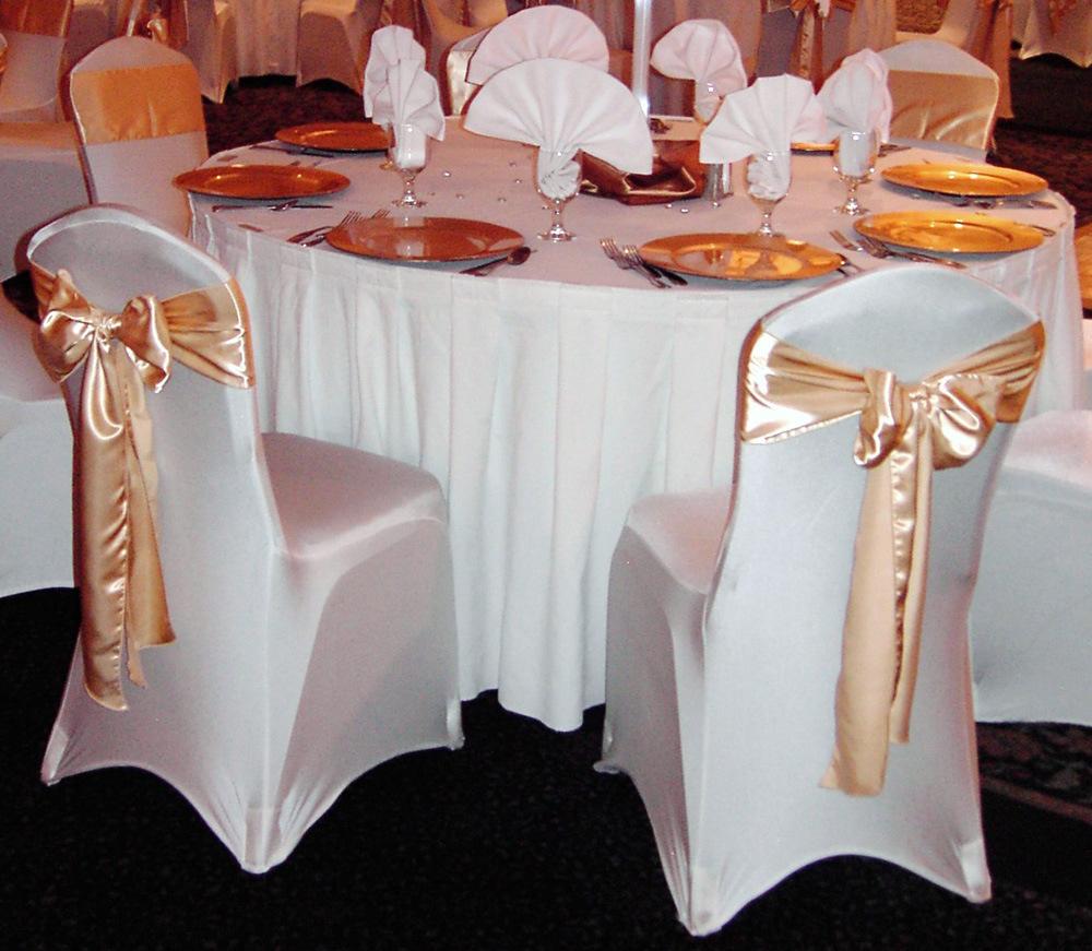 chair coverings weddings