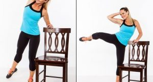 chair exercises for abdominals standing side crunch x
