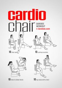 chair exercises for abdominals cardio chair workout