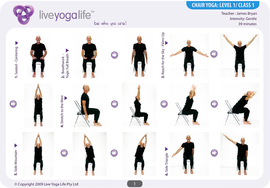 chair yoga postures