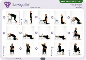 chair yoga postures chair yoga level class